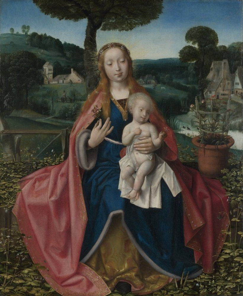 Attributed to Jan Provoost - The Virgin and Child in a Landscape.jpg